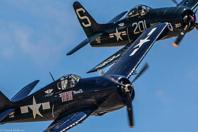 Photograph - Looking In On A Pair Of Grumman Cats by Tommy Anderson