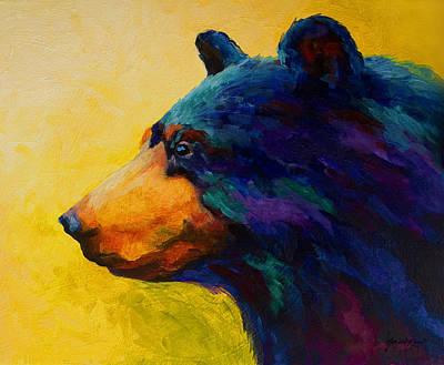 Looking On II - Black Bear Print by Marion Rose