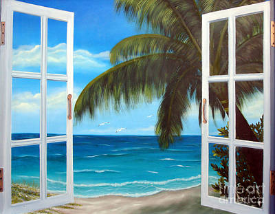 Sand Dunes Painting - Looking Out by Darlene Green