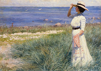 Looking Out To Sea Print by Paul Fischer