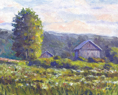 Shed Painting - Looking South by Michael Camp