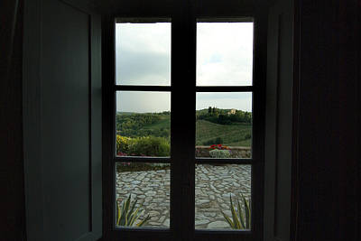 Looking Through The Window Of A Tuscan Print by Todd Gipstein