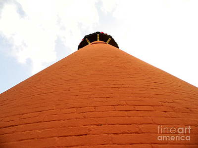 Photograph - Looking Up The Jupiter Lighthouse by D Hackett