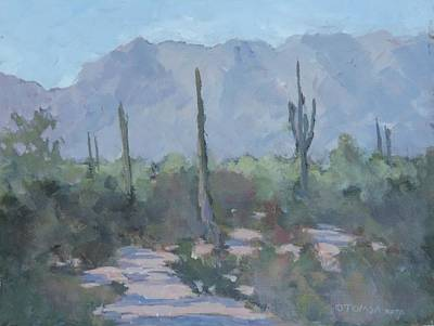 Sonora Painting - Looking West From Ahwatukee by Bill Tomsa