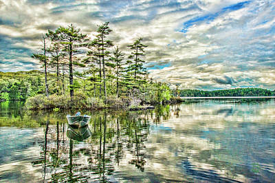 Loon Digital Art - Loon Island by Daniel Hebard