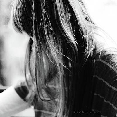 Loose Hair Photograph - Loosing Senses by Marta Karolina W