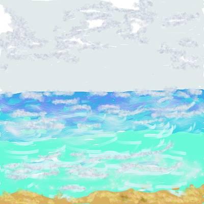 Loquillo Beach Oceanscape Print by Dotti Hannum