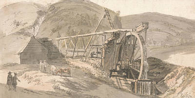 18th Century Painting - Lord Hopetoun's Lead Mines by Paul Sandby