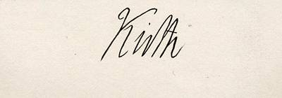 Lord Drawing - Lord Keith.signature. Admiral George by Vintage Design Pics