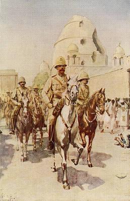 Lord Drawing - Lord Kitchener Entering Omdurman by Vintage Design Pics