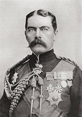 Lord Drawing - Lord Kitchener In 1896, When by Vintage Design Pics