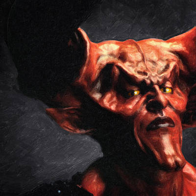 Tim Curry Painting - Lord Of Darkness by Taylan Soyturk