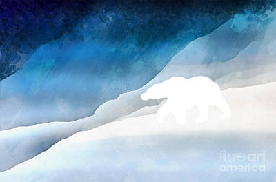 Arctic Digital Art - Lord Of The Arctic by Edward Fielding