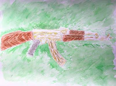 Ak-47 Painting - Lord Of War by E H
