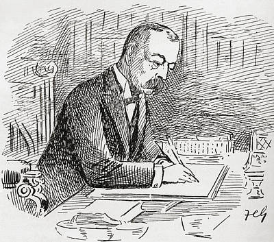 Lord Drawing - Lord Randolph Henry Spencer-churchill by Vintage Design Pics