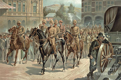 Lord Roberts Entry Into Pretoria Print by Richard Caton Woodville