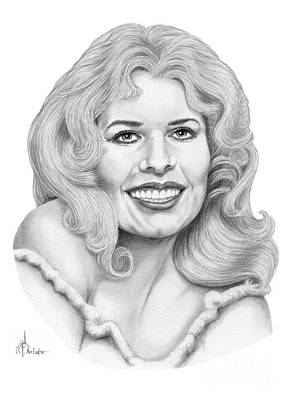 Famous People Drawing - Loretta Swit by Murphy Elliott