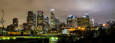 Los Angeles Skyline Photograph - Los Angeles At Night by April Reppucci