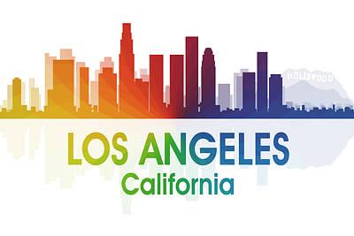 Cityscape Mixed Media - Los Angeles Ca by Angelina Vick