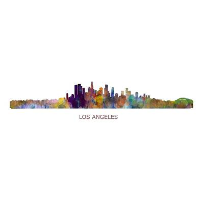 City Painting - Los Angeles City Skyline Hq V1 by HQ Photo