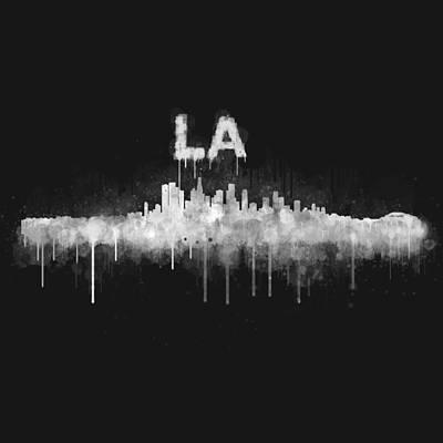 Los Angeles City Skyline Hq V5 Wb Original by HQ Photo