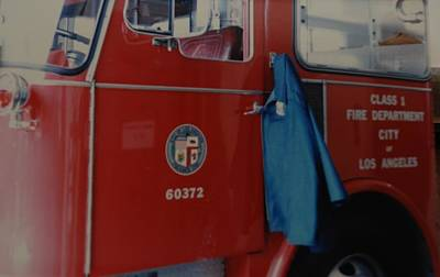 Los Angeles Fire Department Print by Rob Hans