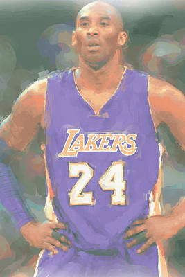 Los Angeles Lakers Kobe Bryant 2 Print by Joe Hamilton