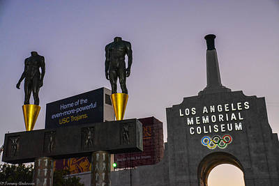 Photograph - Los Angeles Memorial Coliseum by Tommy Anderson