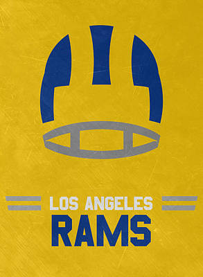 Super Bowl Mixed Media - Los Angeles Rams Vintage Art by Joe Hamilton