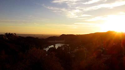 Los Angeles Sunset Print by Jera Sky