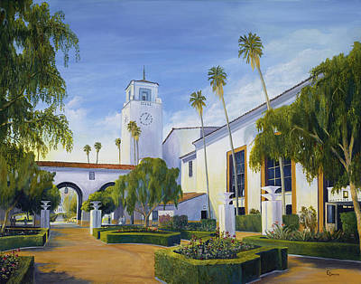 Eric Smith Painting - Los Angeles Union Station  by Eric Smith