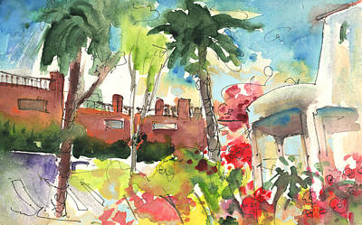Travel Sketch Drawing - Los Gigantes In Tenerife 03 by Miki De Goodaboom