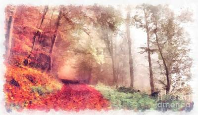 Red Leaf Digital Art - Lose Yourself by Edward Fielding