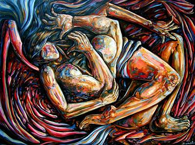 Angels Drawing - Losing My Religion by Darwin Leon