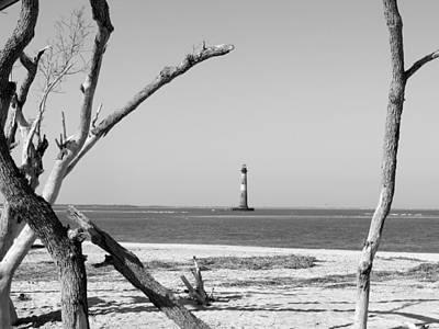 Lost At Sea...morris Island Lighthouse Print by Elena Tudor