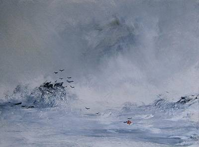 Bouys Painting - Lost Bouy by Andy Davis