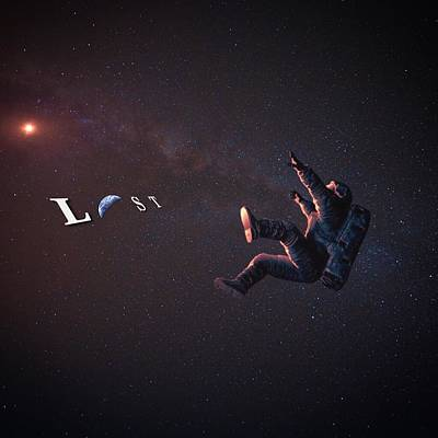 Space Digital Art - Lost by Brennan Gallegos