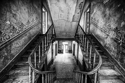Abandoned Houses Photograph - Lost Glory Staircase - Abandoned Castle by Dirk Ercken