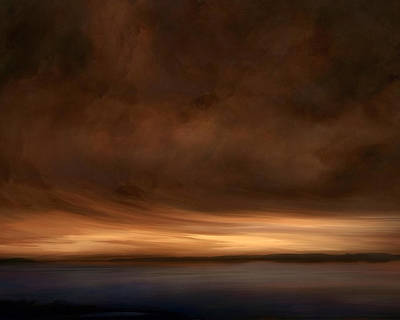 Deep Blue Mixed Media - Lost Horizon by Lonnie Christopher