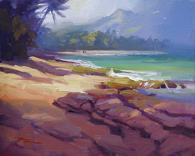 Haleiwa Painting - Lost In Paradise II by Richard Robinson