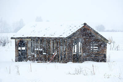 Ruin Photograph - Lost In Winter by Mike Dawson