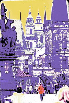 Prague Mixed Media - Lost Prague by Ira Shander