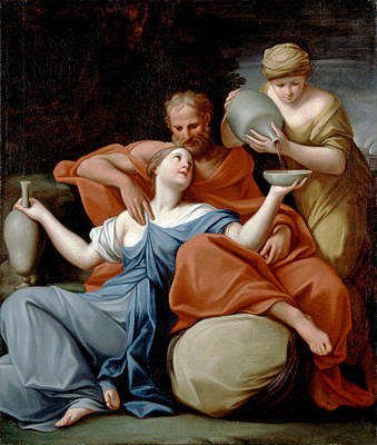 Lot Painting - Lot And His Daughters by Marcantonio Franceschini
