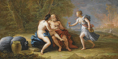 Lot Painting - Lot And His Daughters by Paolo de Matteis