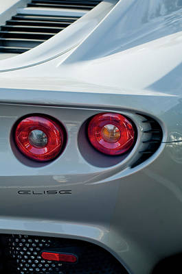 Lotus Elise Taillight Print by Jill Reger
