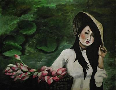 Lotus Print by Kim Selig