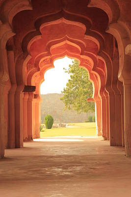 Columns Photograph - Lotus Mahal by Jon Anderson