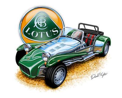 British Digital Art - Lotus Super 7  by David Kyte