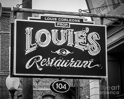 Louie's Print by Perry Webster