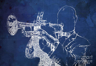 Jazz Band Painting - Louis Armstrong On Stage by Pablo Franchi